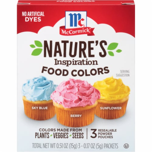 McCormick Nature's Inspiration Food Colors 3 Count Perspective: front
