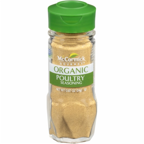 McCormick Gourmet Organic Poultry Seasoning Perspective: front