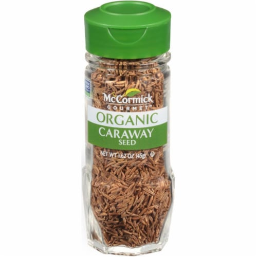 McCormick Gourmet Organic Caraway Seed Shaker Perspective: front