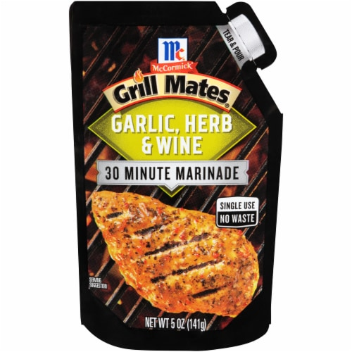 McCormick Grill Mates Garlic Herb & Wine 30 Minute Marinade Perspective: front