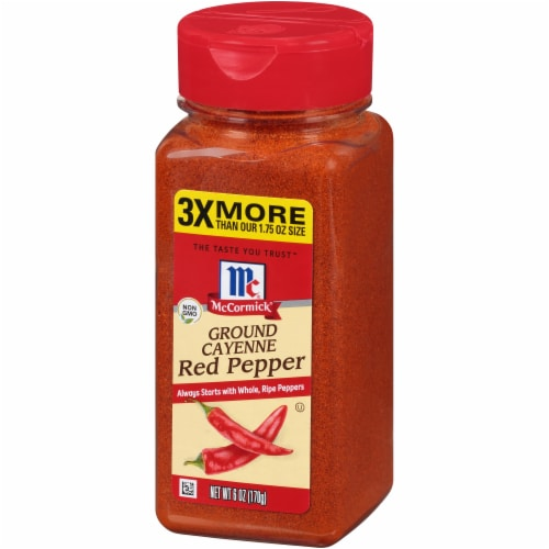McCormic Ground Cayenne Red Pepper Seasoning Perspective: front
