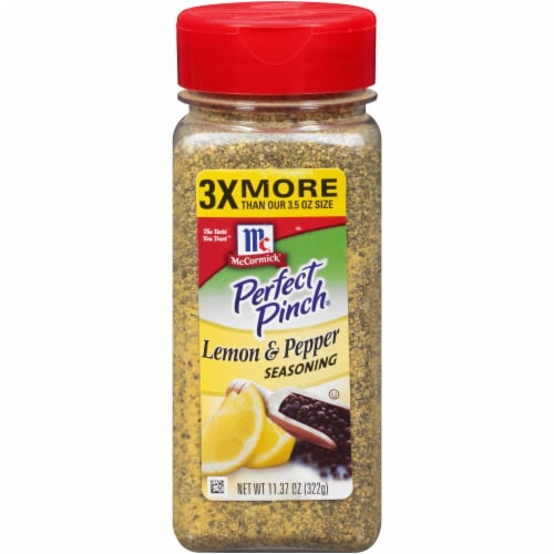 McCormick Perfect Pinch Lemon & Pepper Seasoning Shaker Perspective: front