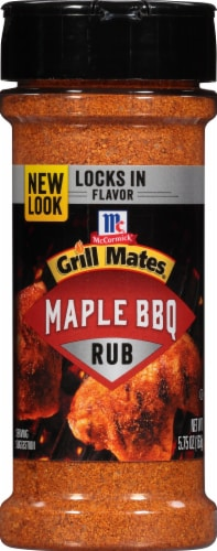 McCormick Grill Mates Maple BBQ Rub Shaker Perspective: front