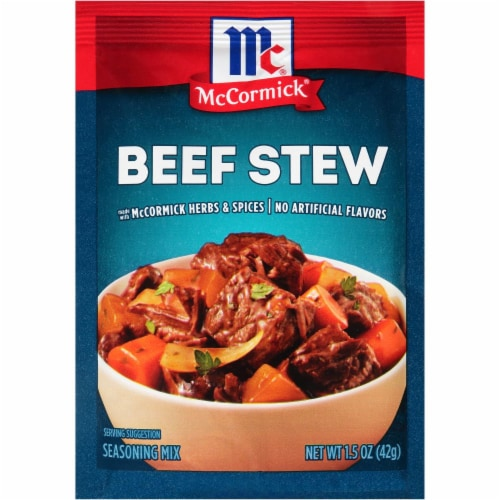 McCormick Beef Stew Seasoning Mix Perspective: front