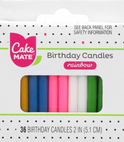 Cake Mate Rainbow Birthday Candles Perspective: front