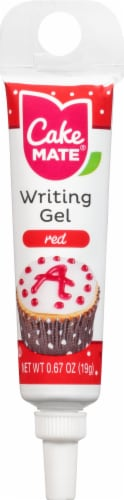 Cake Mate Red Writing Gel Perspective: front