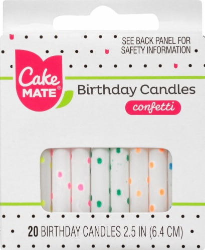 Cake Mate Birthday Candles - Confetti Perspective: front
