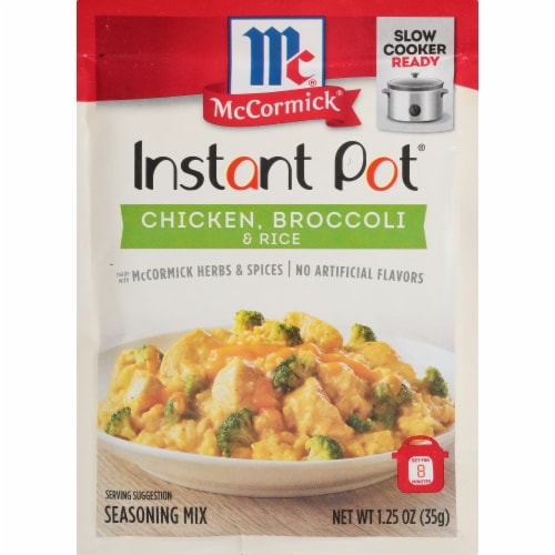 McCormick® Instant Pot® Chicken Broccoli & Rice Seasoning Mix Perspective: front