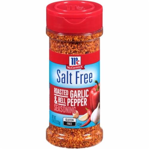 McCormick Salt Free Roasted Garlic & Bell Pepper Seasoning Perspective: front