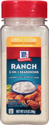 Mccormick Ranch Seasoning Mix Gluten Free 8.75 Oz Perspective: front