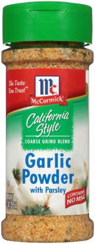 McCormick California Style Garlic Powder with Parsley Shaker Perspective: front