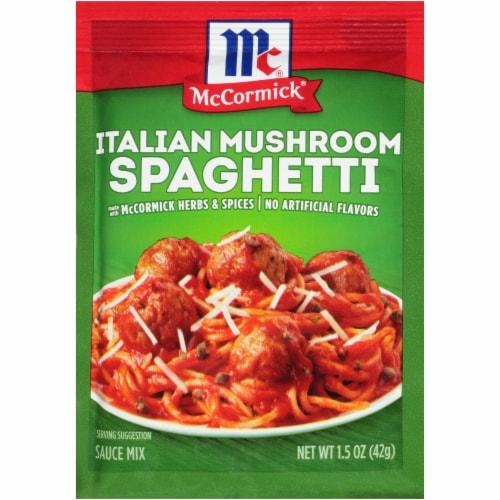 McCormick Italian Mushroom Spaghetti Sauce Mix Perspective: front