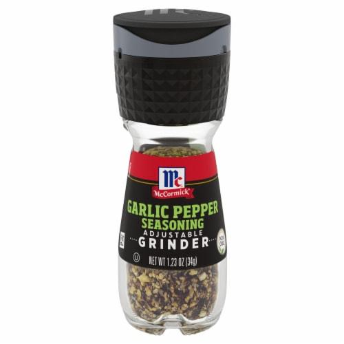 McCormick Garlic Pepper Seasoning Grinder Perspective: front