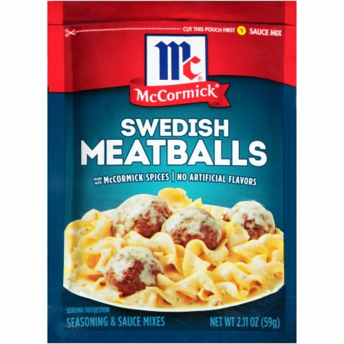 McCormick Swedish Meatballs Seasoning & Sauce Mix Perspective: front
