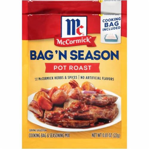 McCormick Bag 'n Season Pot Roast Cooking Bag & Seasoning Mix Perspective: front