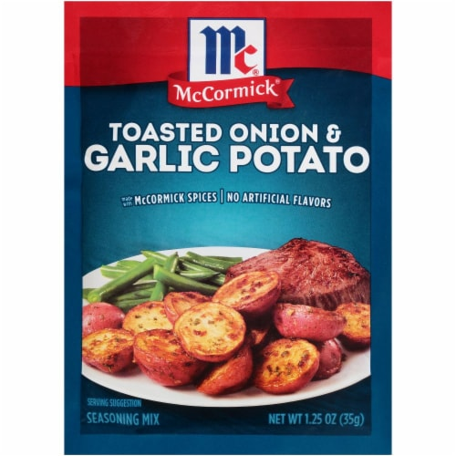 McCormick Toasted Onion & Garlic Potato Seasoning Mix Perspective: front