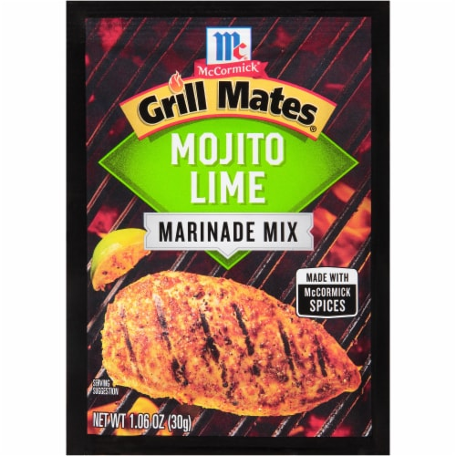 McCormick® Grill Mates® Mojito Lime Marinade Mix Perspective: front