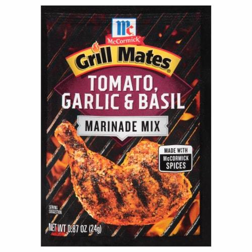 McCormick Grill Mates Tomato Garlic & Basil Marinade Perspective: front