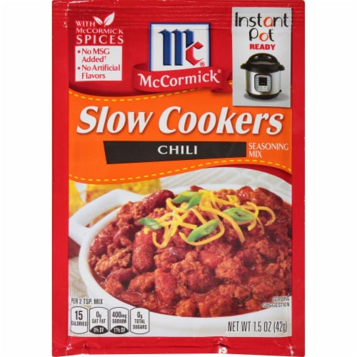McCormick Slow Cookers Chili Seasoning Mix Perspective: front