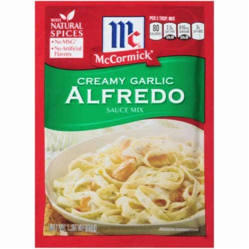 McCormick Creamy Garlic Alreado Sauce Mix 12 Count Perspective: front