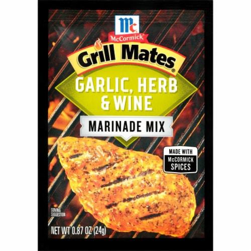 McCormick Grill Mates Garlic Herb & Wine Marinade Mix Perspective: front
