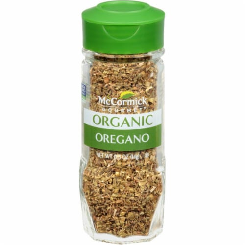 McCormick Gourmet Organic Oregano Shaker Perspective: front