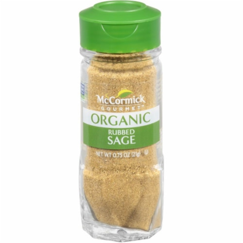 McCormick Gourmet Organic Rubbed Sage Shaker Perspective: front