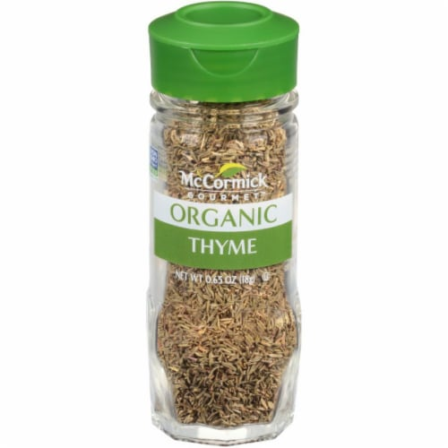McCormick Gourmet Organic Thyme Shaker Perspective: front