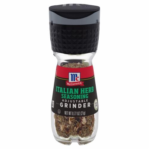 McCormick Italian Herb Seasoning Grinder Perspective: front