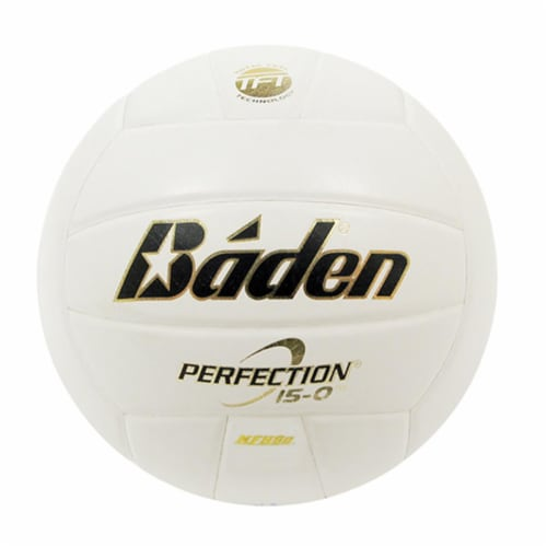 Baden 1323108 Perfection Volleyball, Blue, White & Gray Perspective: front