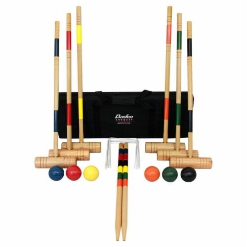 Baden Deluxe Croquet Set Perspective: front