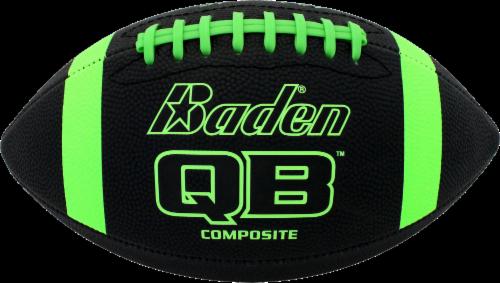 Baden Composite Junior Football - Gray/Neon Green Perspective: front