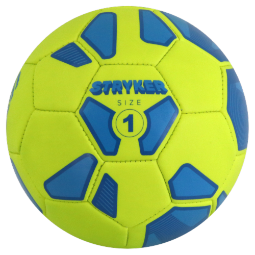 Baden Stryker Micro Mini Soccer Ball - Aqua/Lime Perspective: front