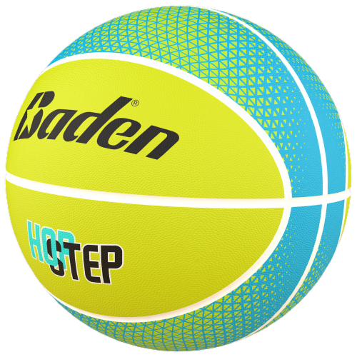 Baden Hop Step Basketball - Yellow/Turquoise Perspective: front