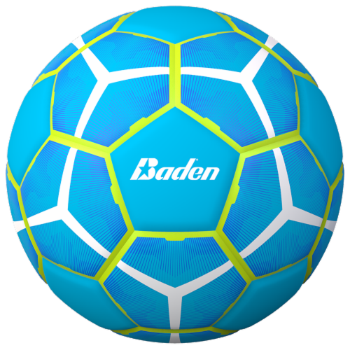 Baden Size 5 Soccer Ball - Turquoise/Yellow Perspective: front