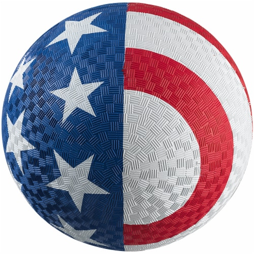 Baden 8.5-Inch Playground Ball - Red/White/Blue Perspective: front