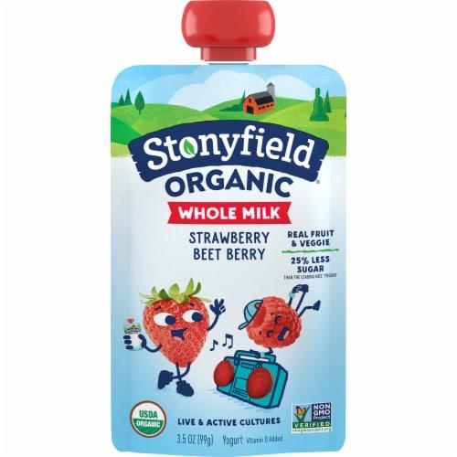 Stonyfield® Organic Strawberry Beet Berry Whole Milk Yogurt Perspective: front