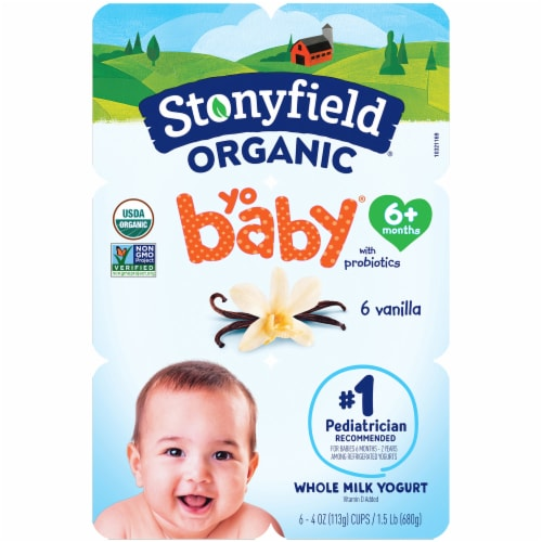 Stonyfield Organic YoBaby Vanilla Whole Milk Yogurt Perspective: front