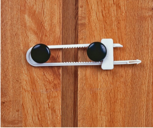 Safety 1st Cabinet Slide Lock - White Perspective: front