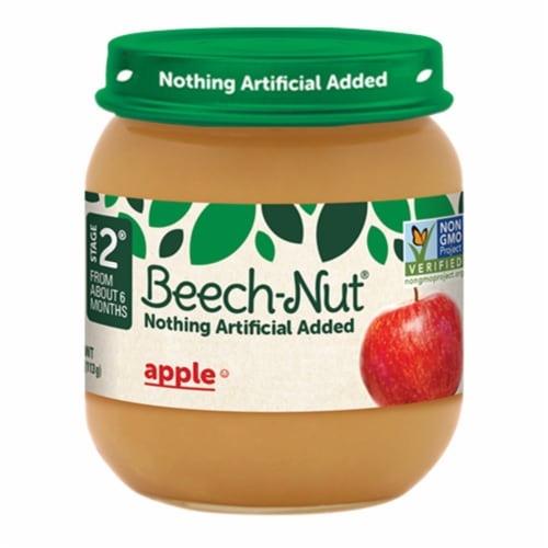 Beech-Nut Apple Stage 2 Baby Food Perspective: front
