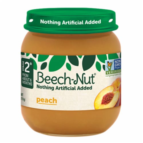 Beech-Nut Peaches Stage 2 Baby Food Perspective: front