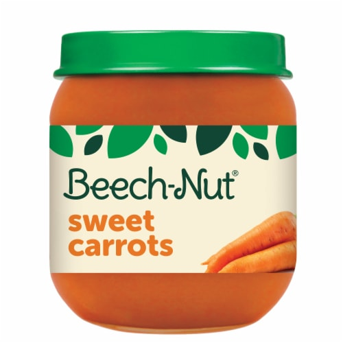 Beech-Nut Sweet Carrots Stage 2 Baby Food Perspective: front