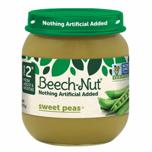 Beech-Nut Sweet Peas Stage 2 Baby Food Perspective: front