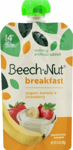 Beech-Nut Breakfast Yogurt Banana & Strawberry Blend Stage 4 Baby Food Perspective: front