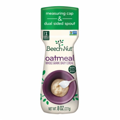 Beech-Nut Oatmeal Whole Grain Stage 1 Baby Cereal Perspective: front