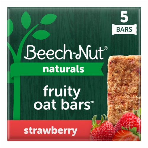 Beech-Nut Naturals Strawberry Fruity Oat Bars Perspective: front