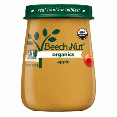 Beech-Nut® Organics Stage 1 Apple Baby Food Perspective: front