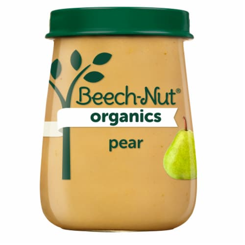 Beech-Nut® Organics Stage 1 Pear Baby Food Perspective: front