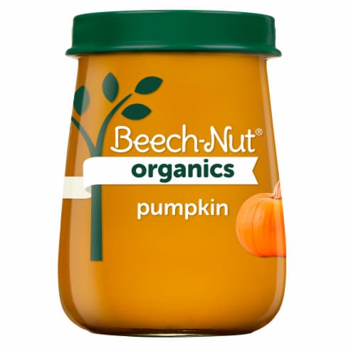 Beech-Nut® Organics Stage 1 Pumpkin Baby Food Perspective: front