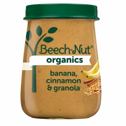 Beech-Nut Organics Banana Cinnamon & Granola Stage 2 Baby Food Perspective: front